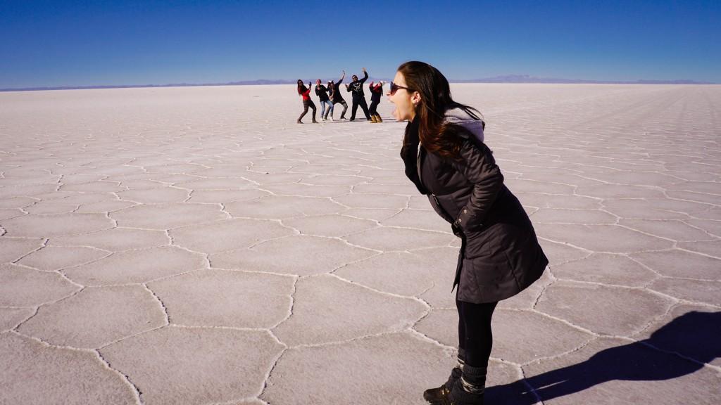 Spaß Bild Salar de Uyuni