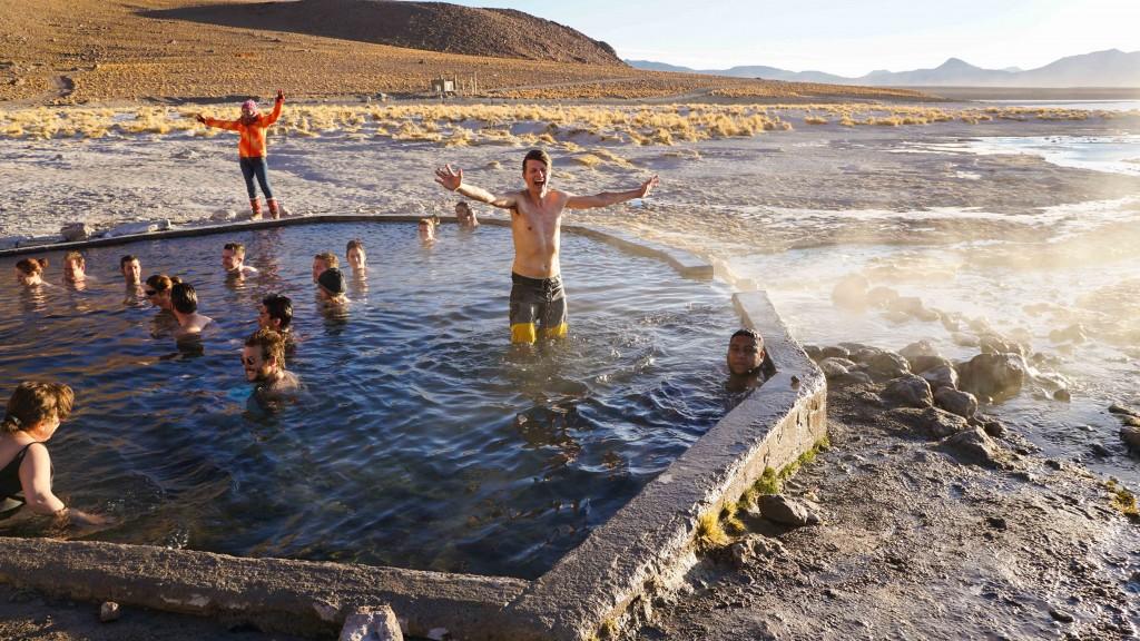 Heiße Quelle Salar de Uyuni