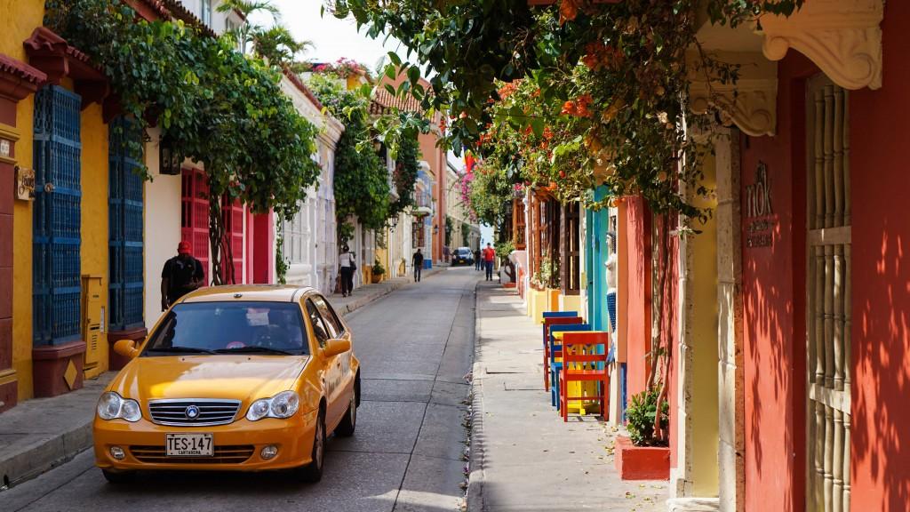 Cartagena, bunte Strasse